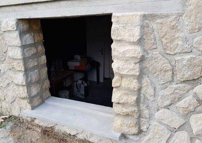Création de linteaux pour la pose de fenêtre