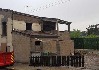 Démolition et reconstruction d'une maison