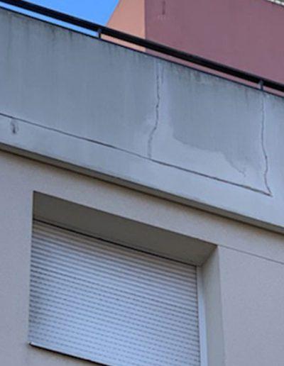 Fissures et infiltrations façade