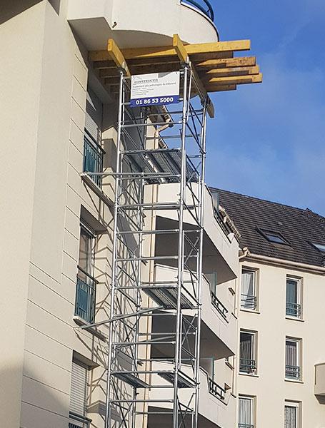 Malfaçon : effondrement d'un balcon
