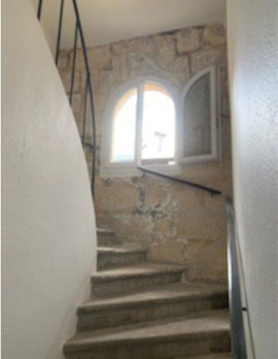 Mise à nu de l'escalier