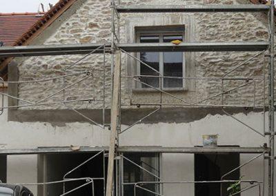 Traitement et rénovation d'une façade en pierres